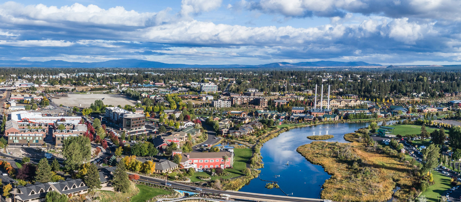 aerial photograph of Bend, Oregon; residential electrician